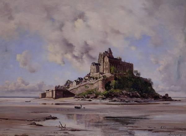 Mont Saint-michel Poster featuring the painting Mont Saint Michel by Emmanuel Lansyer