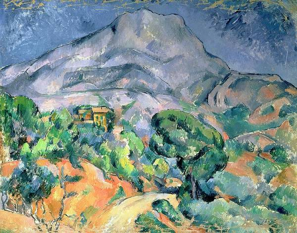 Bal49324 Poster featuring the painting Mont Sainte Victoire by Paul Cezanne