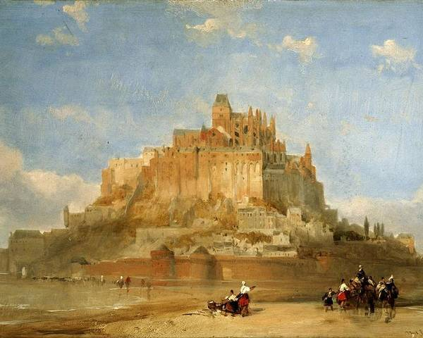 Nature Poster featuring the painting Mont St Michel From The Sands By David Roberts by David Roberts