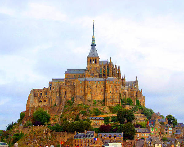 Photographer Poster featuring the photograph Mont St Michel by Jez C Self