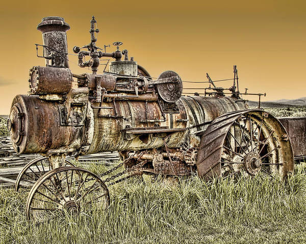 Montana Poster featuring the photograph Montana Steam Punk - Nevada City Ghost Town by Daniel Hagerman