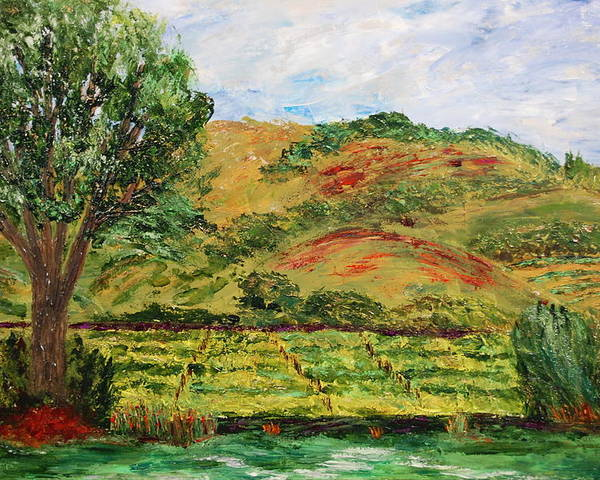 Landscape Poster featuring the painting Montelena Memories by Deborah Gall