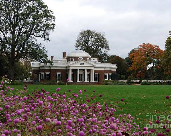 Fall Poster featuring the photograph Monticello by Eric Liller