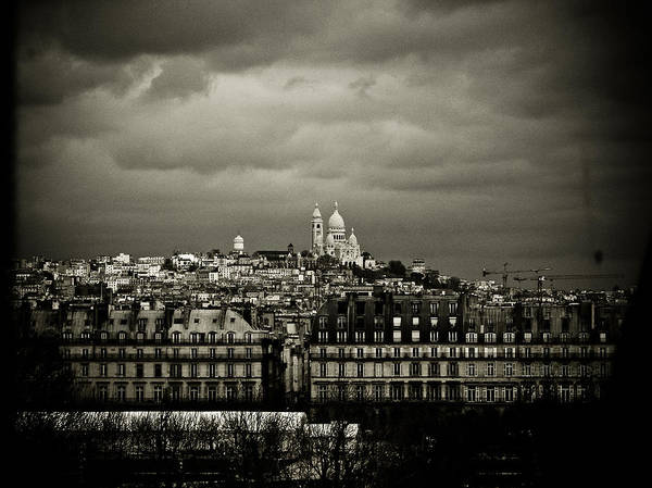 Paris Poster featuring the photograph Montmartre Black And White by Mark Currier