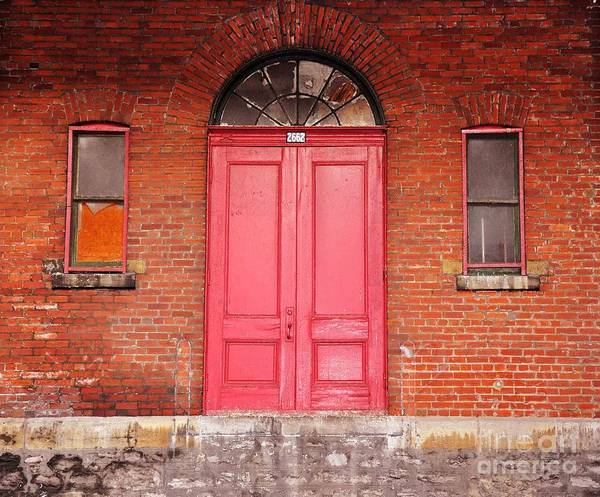 Red Doors Poster featuring the photograph Montreal Street Photography by Reb Frost
