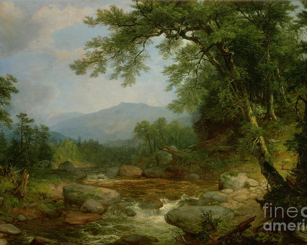 Monument Poster featuring the painting Monument Mountain - Berkshires by Asher Brown Durand