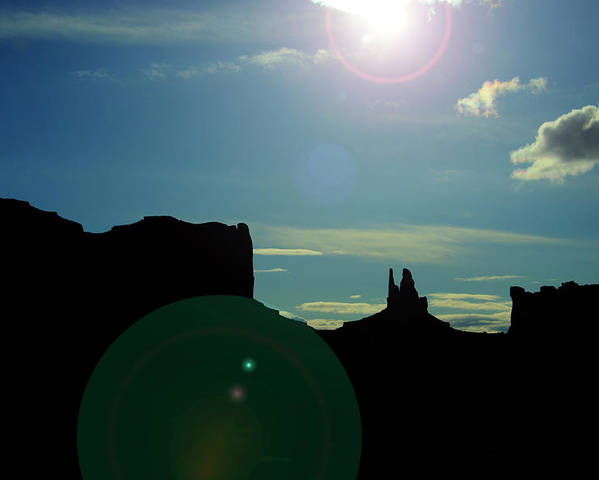 Monument Valley Poster featuring the photograph Monument Valley silhouette by Roy Nierdieck