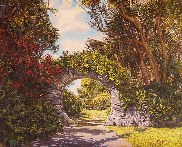 Bermuda Poster featuring the painting Moon Gate by Otto Trott