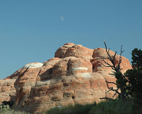 Arches National Park Poster featuring the photograph Moonrise At Arches No. 1 by Karen Garvin