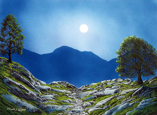 Landscape Poster featuring the painting Moonrise by Frank Wilson