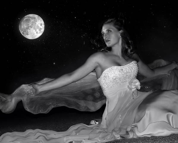 Digital Photo Poster featuring the photograph Moonstruck by Jean Hildebrant