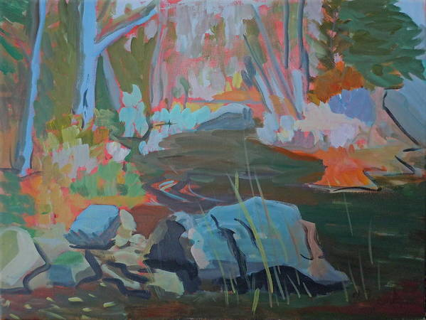 Landscape Poster featuring the painting Moose Lips Brook by Francine Frank