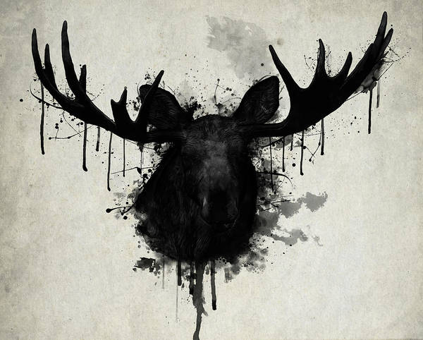 d234c0ebc44 Moose Poster featuring the digital art Moose by Nicklas Gustafsson