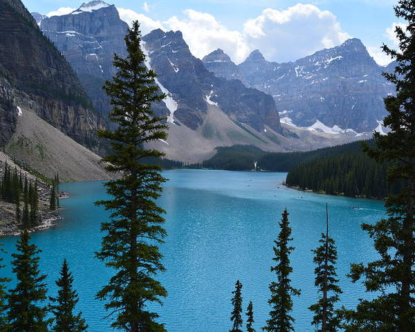 Alberta Poster featuring the photograph Moraine Lake II by Eoin Carey