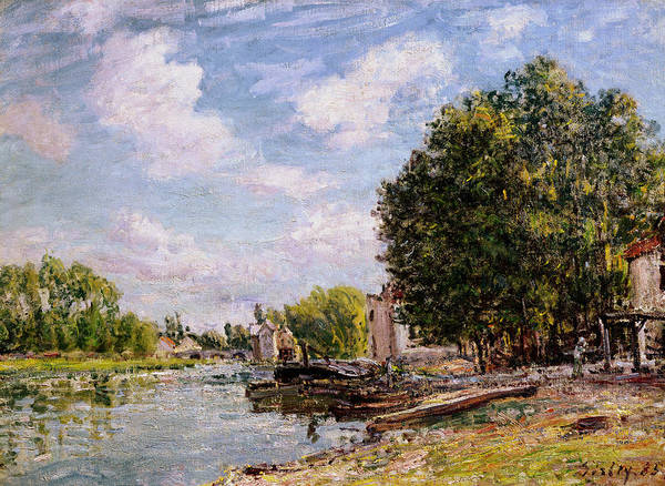 Moret-sur-loing Poster featuring the painting Moret-sur-loing by Alfred Sisley