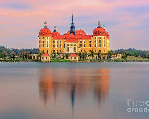 Moritzburg Castle Poster featuring the photograph Moritzburg Castle - Saxony - Germany by Henk Meijer Photography