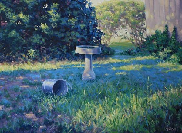 Landscape Poster featuring the painting Morning Bathwater by Michael Vires