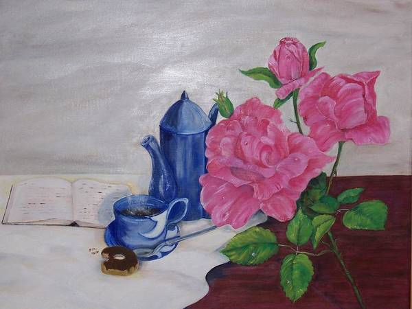 Still Life Poster featuring the painting Morning Coffee by Penny Everhart