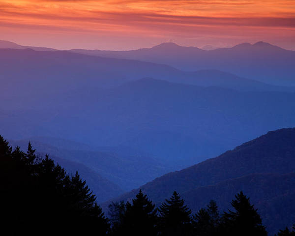 Smokies Poster featuring the photograph Morning Colors In The Smokies by Andrew Soundarajan