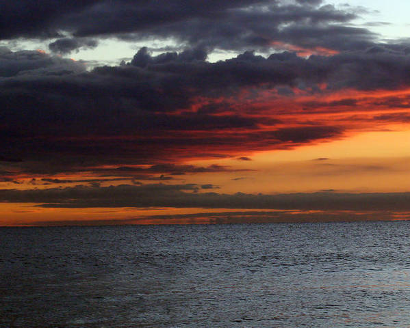 Sunrise Poster featuring the photograph Morning Horizon by Mary Haber