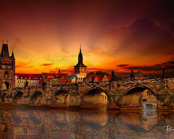 Architecture Poster featuring the photograph Morning In Prague by Russ Harris