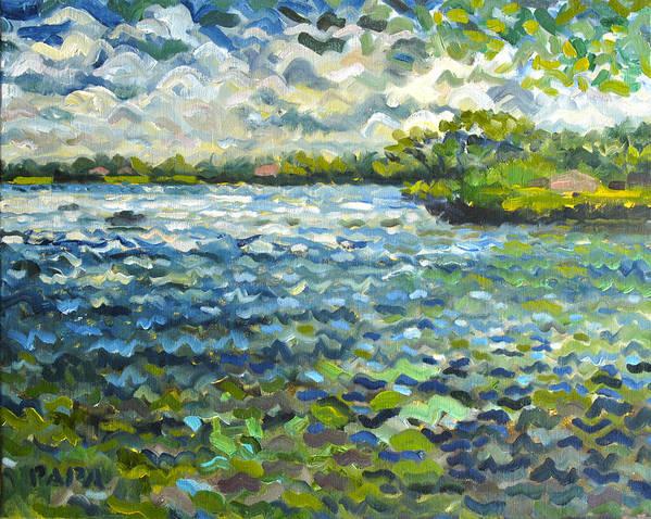 Lake Ida Poster featuring the painting Morning Light At Lake Ida by Ralph Papa