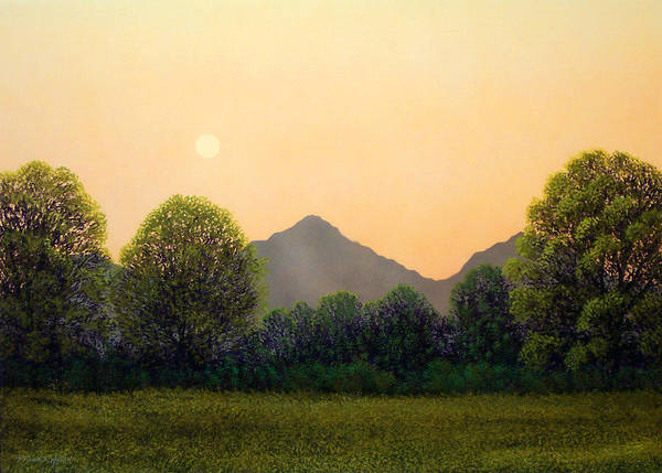 Landscape Poster featuring the painting Morning Light by Frank Wilson