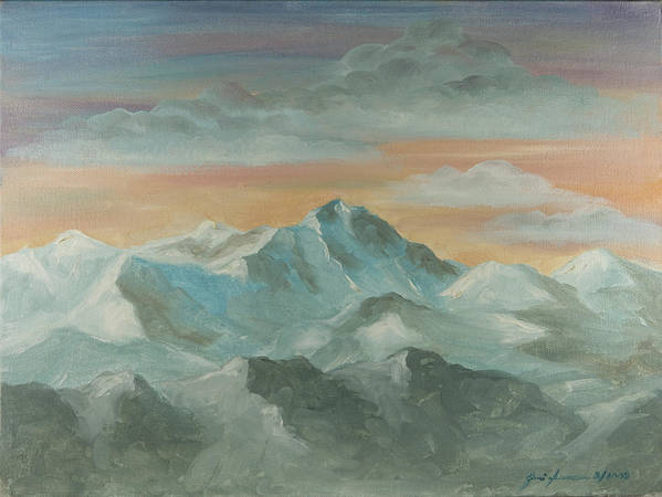 Landscape Poster featuring the painting Morning Light by Joni Herman
