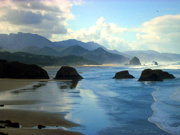 Cannon-beach Poster featuring the photograph Morning On The Oregon Coast by Joyce Dickens