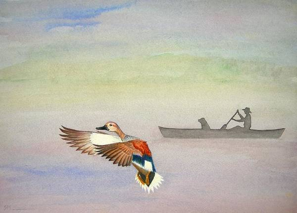 Duck Poster featuring the painting Morning On The Refuge by Scott Manning