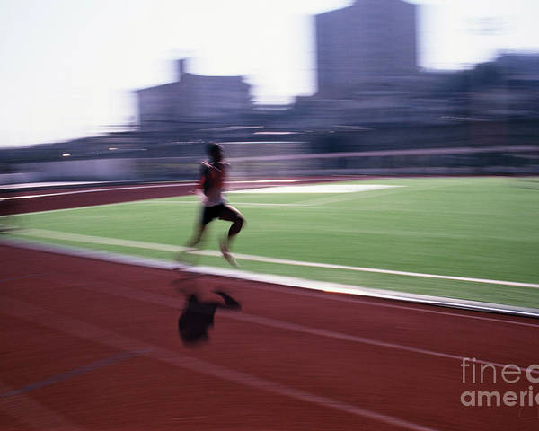 Athlete Poster featuring the photograph Morning Practice by Carlos Alvim