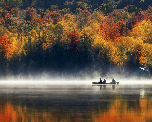 Autumn Poster featuring the photograph Morning Sunrise by Magda Bognar