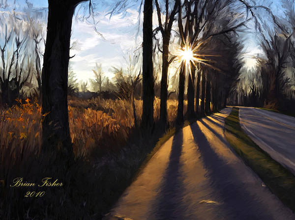 Morning Poster featuring the digital art Morning Walk by Brian Fisher