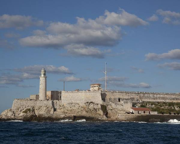 History Poster featuring the photograph Morro Castle Havana Cuba Was Built by Everett