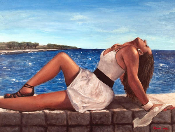 Portrait Poster featuring the painting Morska Vila by Igor Danic