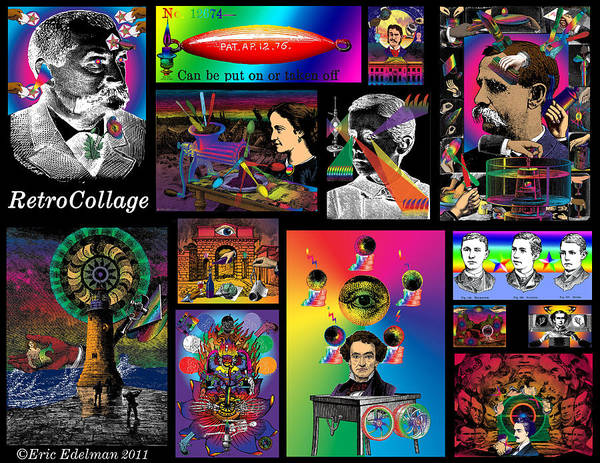 Mosaic Poster featuring the digital art Mosaic Of Retrocollage I by Eric Edelman