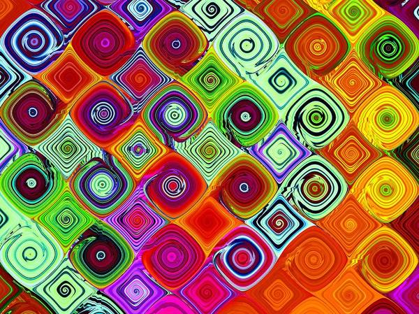 Fractal Poster featuring the digital art Mosaic by Vicky Brago-Mitchell