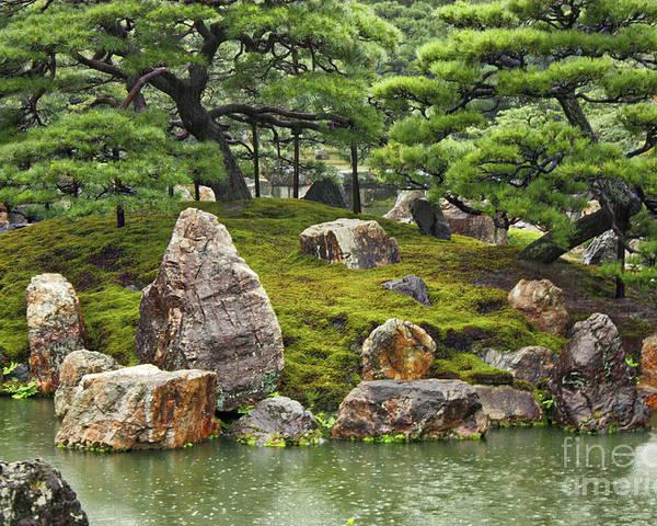 Japanese Garden Poster featuring the photograph Mossy Japanese Garden by Carol Groenen