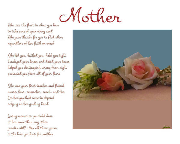 Mother Poster featuring the digital art Mother by Pharris Art