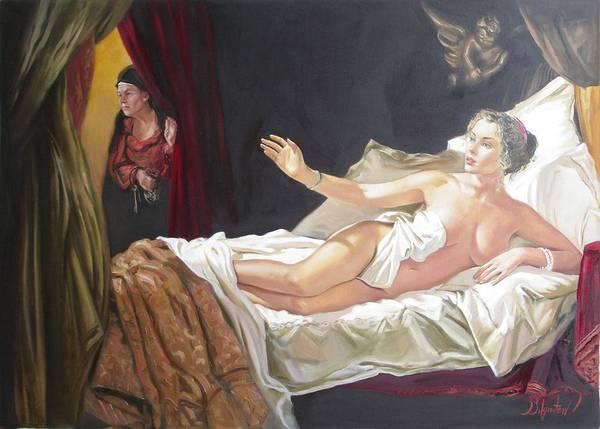 Ignatenko Poster featuring the painting Motif Of Danae by Sergey Ignatenko