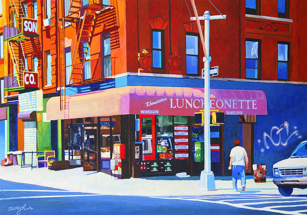 New York City Poster featuring the painting Mott Street by John Tartaglione