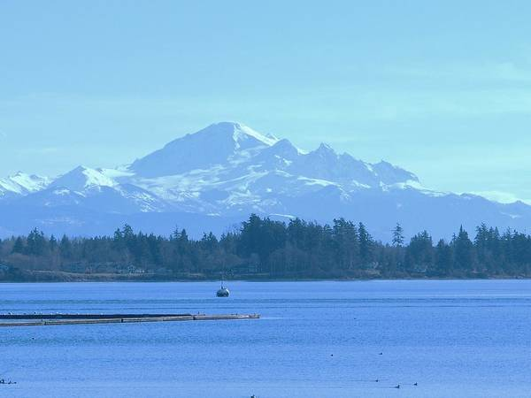 Poster featuring the photograph Mount Baker From The Spit by James Johnstone
