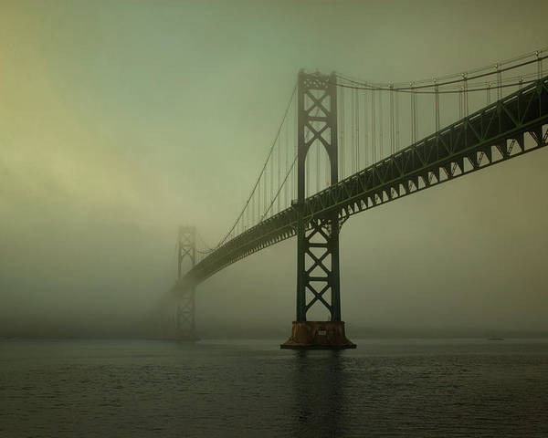 Mount Poster featuring the photograph Mount Hope Bridge by Dave Gordon