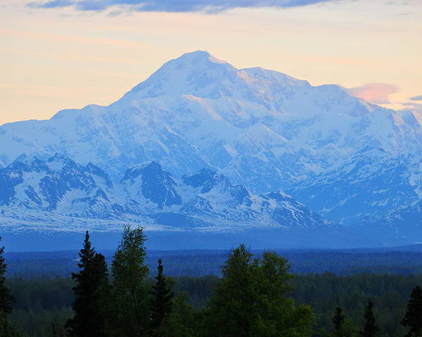 Mount Mckinley Poster featuring the photograph Mount Mckinley by Keith Gondron