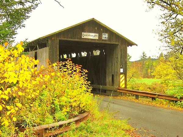 Nh Poster featuring the photograph Mount Orne Covered Bridge by Wayne Toutaint