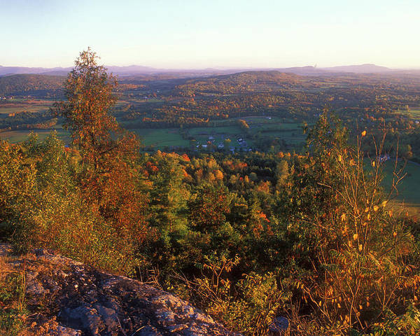 Autumn Poster featuring the photograph Mount Philo Foliage View by John Burk
