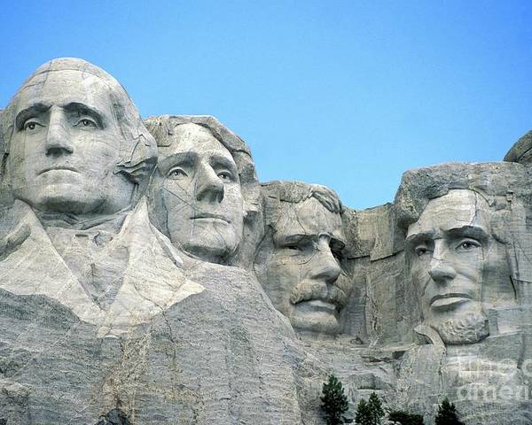 Mount Poster featuring the photograph Mount Rushmore by American School