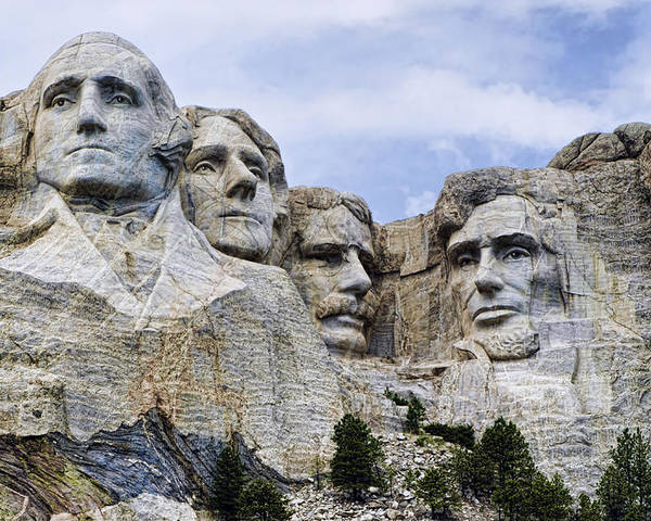 Mount Rushmore Poster featuring the photograph Mount Rushmore National Monument by Jon Berghoff