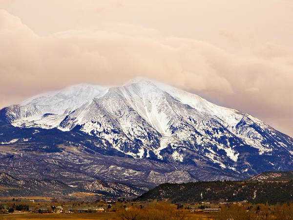 Americana Poster featuring the photograph Mount Sopris by Marilyn Hunt