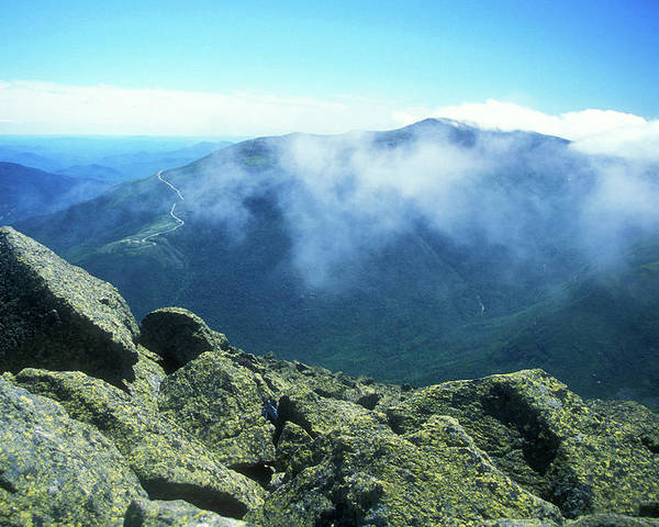 New Hampshire Poster featuring the photograph Mount Washington From Mount Adams Summit by John Burk